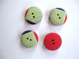 5g Kunststof knoop Groen/blauw/rood met punt 20mm. 706-ks2