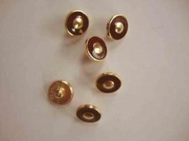 Damesknoop Sjiek Rood/gouden cirkel 12mm. dks230