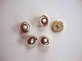 Damesknoop Sjiek Rood/gouden cirkel 15mm. dks231