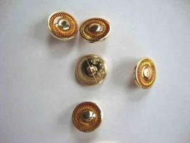 Damesknoop Sjiek Geel/gouden cirkel 15mm. dks235