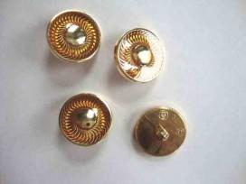 Damesknoop Sjiek Geel/gouden cirkel 18mm. dks236