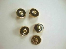 Damesknoop Sjiek Bruin/gouden cirkel 15mm. dks239
