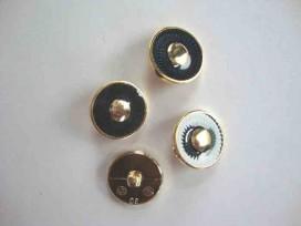 Damesknoop Sjiek Donkerblauw/gouden cirkel 19mm. dks243
