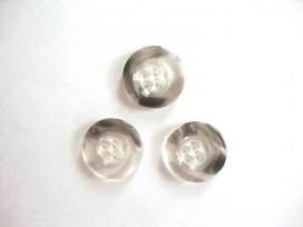 Kunststof knoop 4 gaats doorschijnend Grijs 20mm. 433-S4