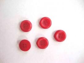 5a Kunststof knoop 4-gaats Rood 12mm. 470-S6