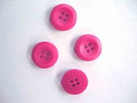 Kunststof knoop 4-gaats Pink 15mm. 474-S6