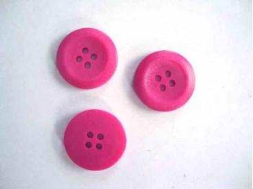 5f Kunststof knoop 4-gaats Pink 20mm. 475-S6