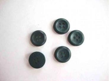 5p Kunststof knoop 4-gaats Groen 12mm. 485-S6