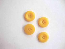 5t Kunststof knoop 4-gaats Geel 15mm. 489-S6