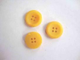 5u Kunststof knoop 4-gaats Geel 20mm. 490-S6