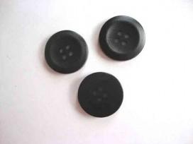 6i Kunststof knoop 4-gaats Zwart 20mm. 503-S6