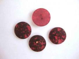 5c Kunststof opruimingsknoop Rood met zwarte vlek 20mm. 512-S7