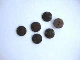 5t Kunststof opruimingsknoop do.Bruin met zwarte vlek 15mm. 529-S7