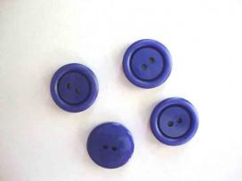 Kunststof knoop 2 gaats Kobalt 18mm. 541-S8