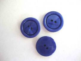 Kunststof knoop 2 gaats Kobalt 20mm. 542-S8