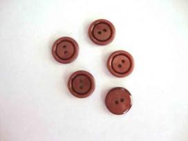 Kunststof knoop 2 gaats Cognac 15mm. 546-S8