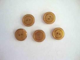 Kunststof knoop 2 gaats Camel 15mm. 552-S8