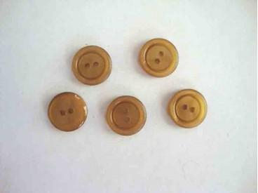 5m Kunststof knoop 2 gaats Camel 15mm. 552-S8