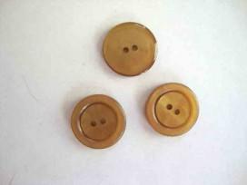 Kunststof knoop 2 gaats Camel 20mm. 554-S8