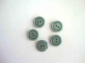 5s Knststof knoop 2 gaats Oudgroen 15mm. 558-S8