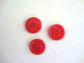 5w Kunststof knoop 2 gaats Rood 20mm. 562-S8