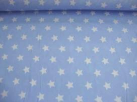 Ster katoen Lichtblauw/wit 5571-02N