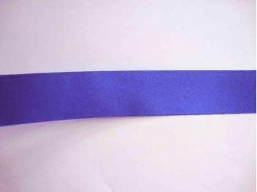 Kobalt satijnlint dubbelzijdig van 40 mm. breed.