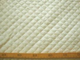 Gewatteerde voering Offwhite Kleine ruit 3279-2