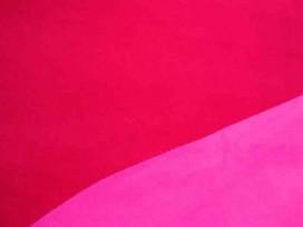 Double face fleece stof.  Zeer mooie 2 zijdige anti pilling fleece. Aan 2 kanten te gebruiken.  100% polyester  1.50 mtr.br.