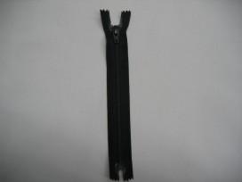 Japon rits 25 cm. zwart