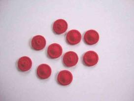 Rode opnaaibare pailletten.  Doorsnee 12 mm.  De prijs is voor 1 zakje met 10 pailletten