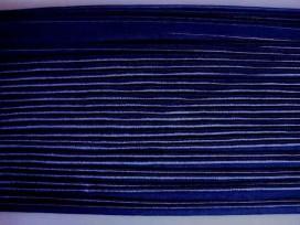5f 2 zijdig elastisch paspelband Donkerblauw 5005-210