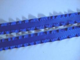 Satijnband dubbele ruche 20mm. Kobalt