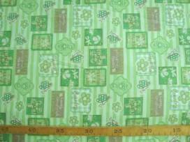 Dapper katoen Lime lengtestreep met blokjes 4037-21N