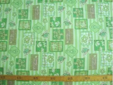 4bb Dapper katoen Lime lengtestreep met blokjes 4037-21N