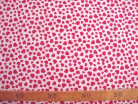 4bj Dapper katoen Wit met rode mini hartjes 4051-50N