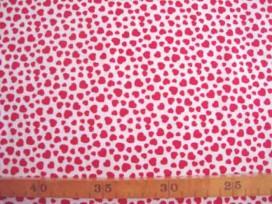Dapper katoen Wit met rode mini hartjes 4051-50N
