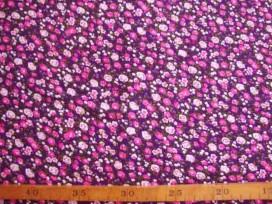 5b Tricot Paars met pink/roze minifleur 4156-17N