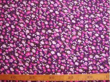 Tricot Paars met pink/roze minifleur 4156-17N