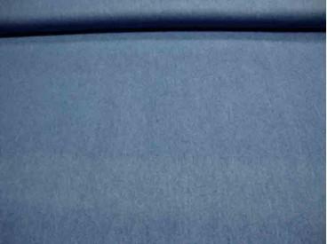 Een dunne, soepelvallende blauwe jeans. Blousekwaliteit. 100% katoen 1.50 mtr.br.