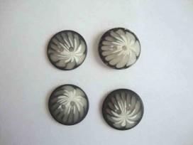 Grijze Palmprint 30mm. kd300. 10 stuks voor: