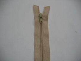 1c Deelbare fijne rits Zand 50 cm.