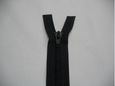 Donkerblauwe deelbare fijne rits. 50 cm. lang