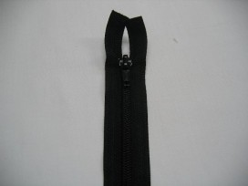 1g Deelbare fijne rits Zwart 70 cm.