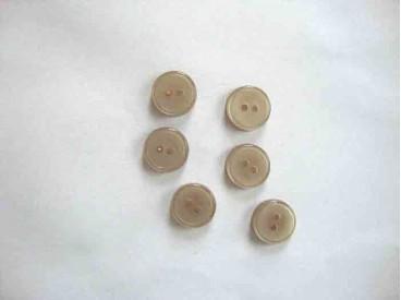 Overhemdknoopje Zand 12mm. 102-12