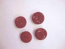 Roos knoop Donkerrood gevlekt 22mm.