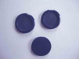Een kunststof mantelknoop donkerblauw met een doorsnee van 28 mm.