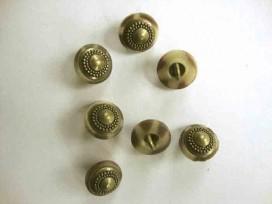Metaal knoop Brons/kunststof op steeltje 12mm. mk216