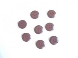Knoop 12mm. 4-gaats Donkerbruin 119-12