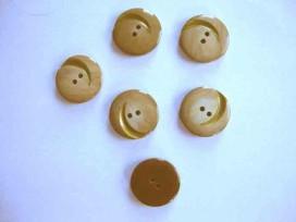 Serie knoop Zand met gouden krul 20mm. sk901